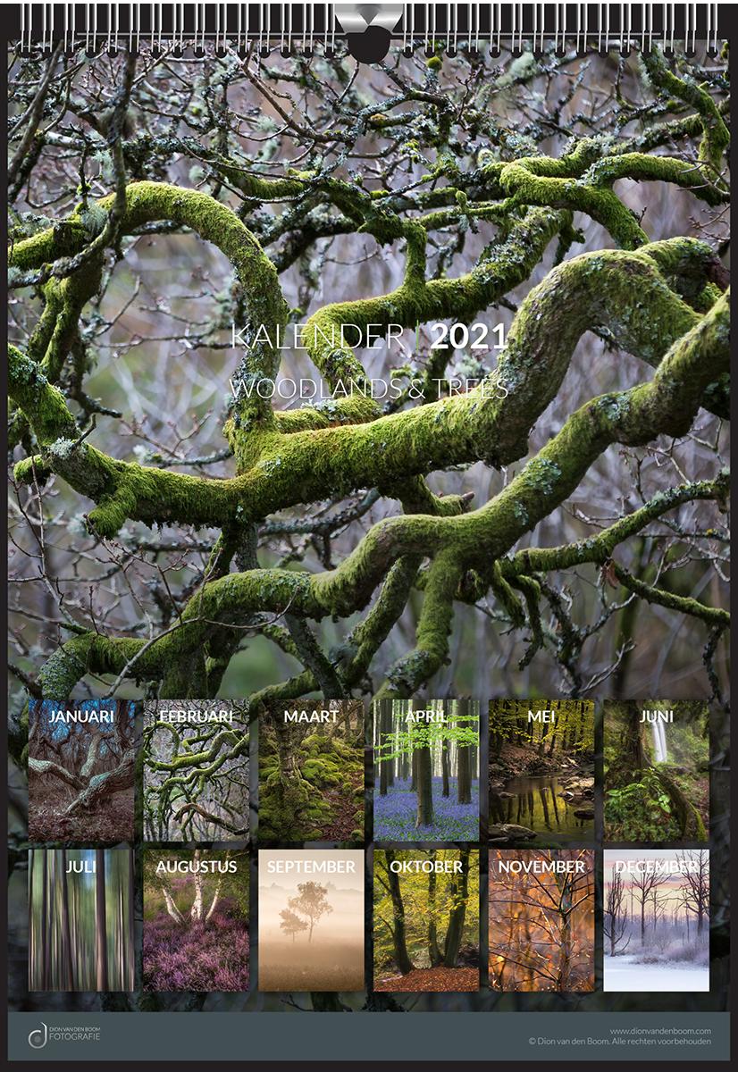 Fotokalender 2021 - Woodlands & Trees - © Dion van den Boom - Fotografie. Alle rechten voorbehouden