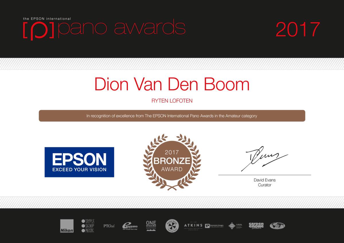 2017 Epson Pano Awards Bronze Award - Ryten Lofoten